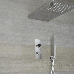 Narus - 2-weg Digitale Thermostaatkraan 80cm Hemeldouche &  Handdouchecombi