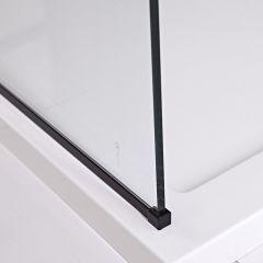 U-Vloerprofiel Voor Nox Douchewanden - Zwart