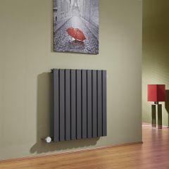 Sloane Designradiator Elektrisch Horizontaal Antraciet 63,5cm x 60cm x 5,4cm