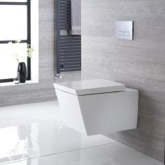 Hallwell Hangend Keramiek Toilet incl WC Bril Vierkant Wit