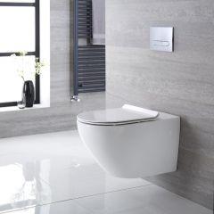 Otterton Hangend Keramiek Toilet incl WC Bril Ovaal Wit