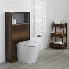 Hoxton Open Toiletmeubel met Open Schap Donker Eiken 115cm