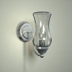 Fischa IP44 E14 Gebogen Badkamerlamp - Wandlamp