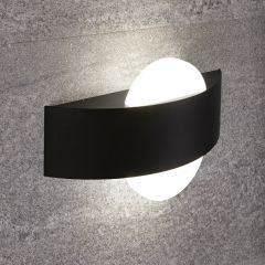 Biard Aqua Halfronde Wandlamp Zwart 11W SMD LED IP54