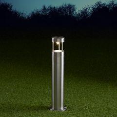 Biard Niort Dimbare Sokkellamp 45cm Hoog RVS IP44 GU10