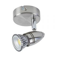 Biard GU10 Spotlight - Satijn Nikkel (geschikt voor plafond en wand montage)