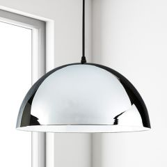 Gracia Hanglamp E27 Chroom/Wit