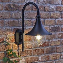 Biard Florence Dimbare Wandlamp Buiten Zwart excl. lamp E27/IP44