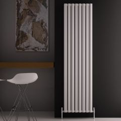 Revive Air Verticale Aluminium Dubbelpaneel Designradiator Wit 180cm x 47cm x 7,6cm 2004Watt