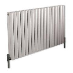 Revive Air Horizontale Aluminium Dubbelpaneel Designradiator Wit 60cm x 107cm x 7,6cm 2067Watt