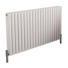 Revive Air Horizontale Aluminium Dubbelpaneel Designradiator Wit 60cm x 119cm x 7,6cm 2298Watt