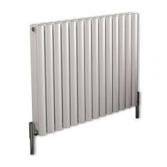 Revive Air Horizontale Aluminium Dubbelpaneel Designradiator Wit 60cm x 83cm x 7,6cm 1609 Watt