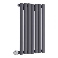 Revive Designradiator Elektrisch Horizontaal Antraciet 63,5cm x 41,5cm x 5,5cm