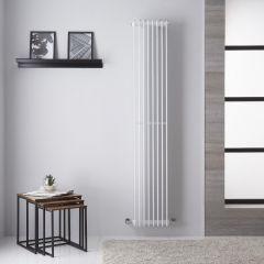 Arezzo Designradiator Verticaal Wit 180cm x 32,5cm 1039Watt