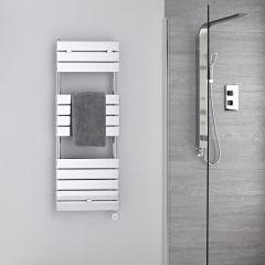 Verchroomd Stalen Elektrische Handdoekradiator incl 400 W Verwarmingselement - 121,3cm x 45cm