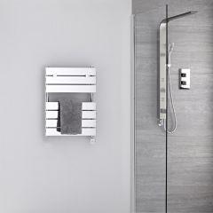 Verchroomd Stalen Elektrische Handdoekradiator incl 400 W Verwarmingselement - 62cm x 45cm