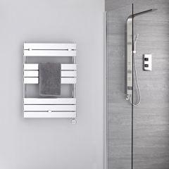 Verchroomd Stalen Elektrische Handdoekradiator incl 400 W Verwarmingselement - 84cm x 60cm