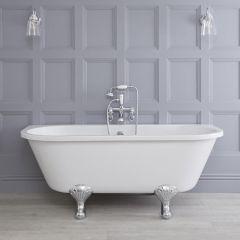 Traditioneel Vrijstaand bad - Uiterst geschikt voor plaatsing TEGEN muur - 169cm x 74,5cm x 65cm