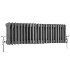 Windsor 3 - Kolomradiator Horizontaal Gelakt Metaal  30cm x 101,3cm x 10cm 889 Watt