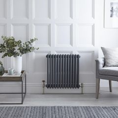 Windsor Designradiator Klassiek Antraciet 60cm x 58,5cm x 10cm 1060 Watt