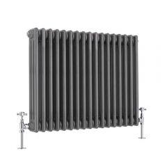 Windsor 3 - Kolomradiator Horizontaal Gelakt Metaal  60cm x 78,9cm x 10cm 1243Watt