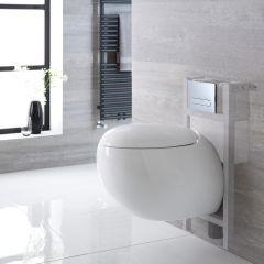 Langtree Hangend Keramiek Toilet Ovaal incl Inbouwreservoir ( Small ) en Keuze Spoelknop