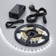 IP20 3528 Led Strip Verlichting Incl Driver & Kabel - 5 Meter - Koel Wit