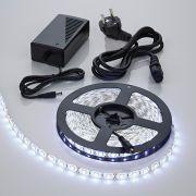 IP20 5050 Led Strip Verlichting Incl Driver & Kabel - 5 Meter - Koel Wit