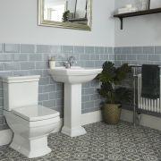 Chester Klassiek Toilet en Wastafel 1 Kraangat