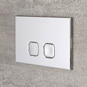 Cluo Dubbele Spoelknop Vierkant 15 x 23 x 0,65 cm