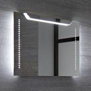 Lomond 13W IP44 LED Badkamerspiegel Geborsteld Aluminium Anti-condens 70 x 50 x 4cm