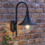 Florence Dimbare Wandlamp Buiten Zwart  E27/IP44