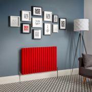 Designradiator Horizontaal Rood Staal   Kies de Afmeting   Revive