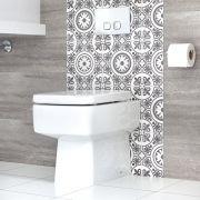 Toilet Staand Keramisch Vierkant Incl Zachtsluitende WC Bril | Exton