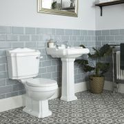 Toilet en Wastafel Staand Klassiek Wit | Oxford