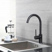 Design Keukenmengkraan - Zwart / Chroom