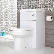 Toilet met Ingebouwde Wastafel 50cm x 89cm Wit   Cluo