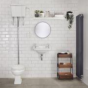 Klassiek Hooghang Toilet met Reservoir en MDF Toiletzitting | Carlton