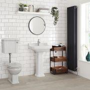 Mote Halfhoog Klassiek Toilet met Reservoir en MDF Toiletzitting