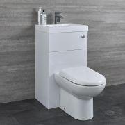 Toilet met ingebouwde wastafel combinatie 50 x 89 x 89cm
