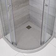 Douchebak Kwadrant Lichtgrijs Steeneffect 90 x 90cm|Rockwell