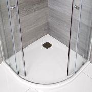 Douchebak Kwadrant Mat Wit Steeneffect 90 x 90cm|Rockwell