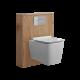 Newington Toilet Ombouw met Hangend Toilet Incl Toilet Stortbak 3/6L Goud Eiken
