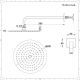 Aldwick 3-weg Thermostatische Douchekraan met Omstel & Douchekop d.20cm &  Glijstang Set & Bodyjets - Geborsteld Nikkel