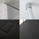 Inloopdouchecombinatie Chroom Vloer-Plafond Profiel & Kunststeen Douchebak 170 x 80 cm