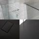 3 - delige Inloopdouche Combi Chroom Stabilisatiestangen & Douchebak Kunststeen 140 x 80cm