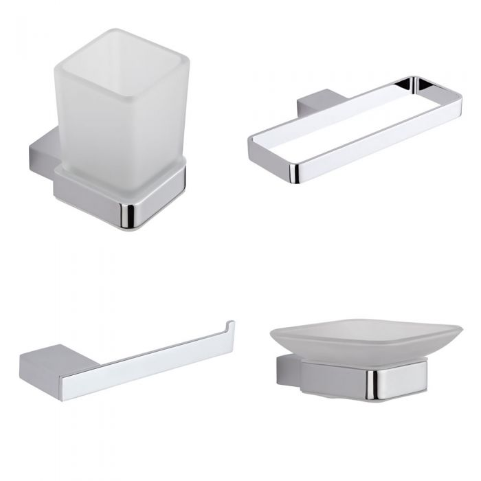 4-delige Badkamer Accessoireset | Kubix