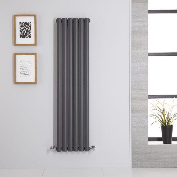 Revive Designradiator Verticaal Antraciet 140cm x 35,4cm 5,6cm 686 Watt