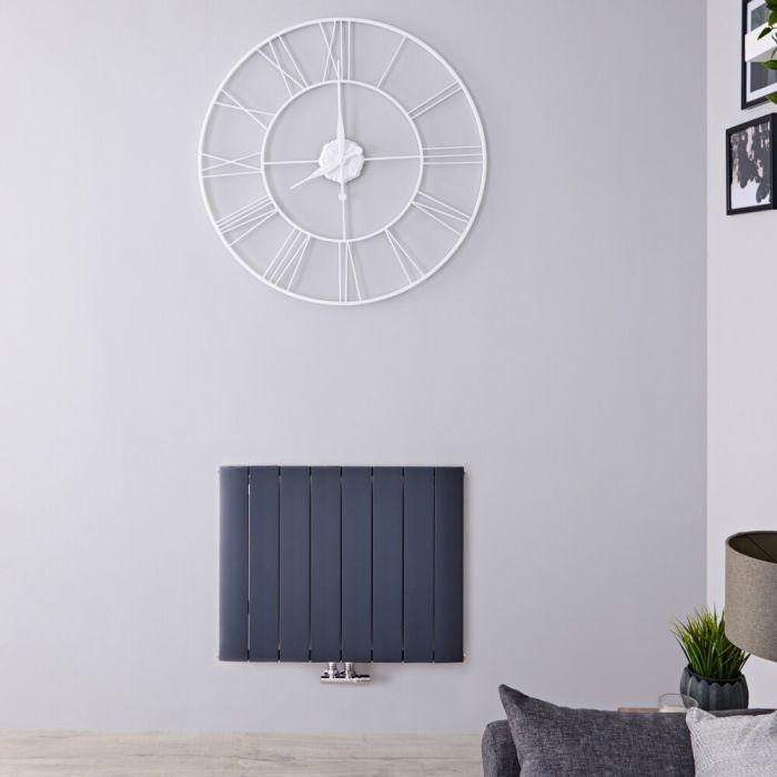 Designradiator Horizontaal Aluminium Middenaansluiting Antraciet 60cm x 75,5cm 922 Watt | Aurora