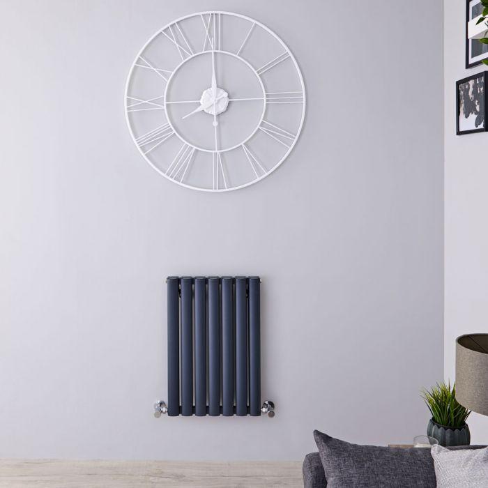Revive Air Horizontale Aluminium Dubbelpaneel Designradiator Antraciet 60cm x 41cm x 7,6cm 804Watt